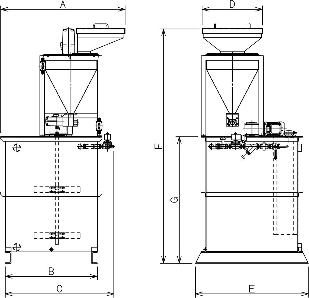 Dimensions of Polymer Preparation System